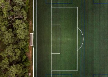 Setting goals for your website concept: photo of soccer goal