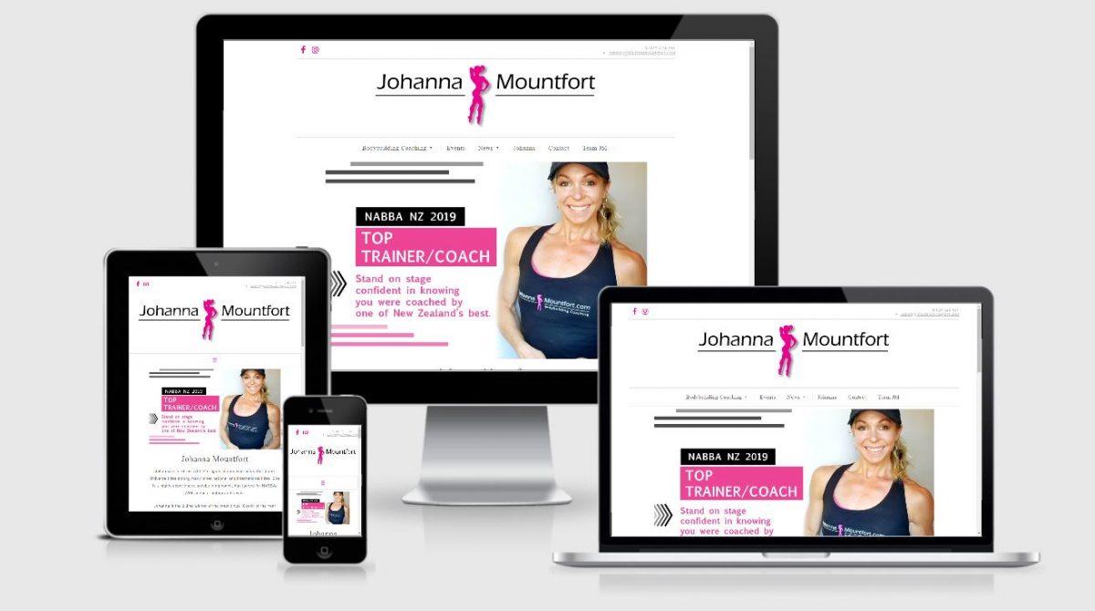 ECommerce WordPress website screenshot showing responsive design